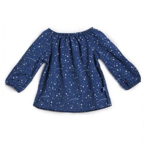 KicKee Pants Woven Peasant Top - Twilight Starry Sky