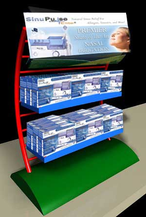 sinupulse elite display stand for dealers