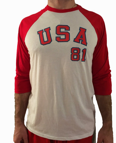 3-quarter Sleeve Team USA Baseball Tee