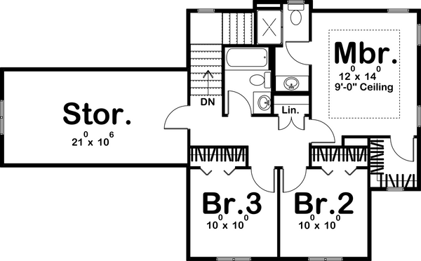 Second level house plan