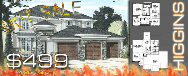 house plan hot sale higgins is 499 for a week - House Plans For Sale
