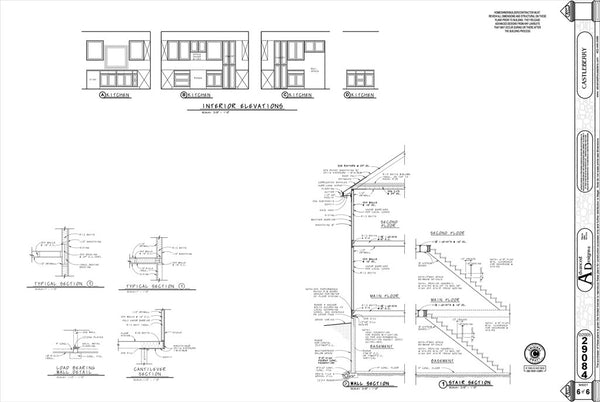 An example page with detail drawings for a set of house plans