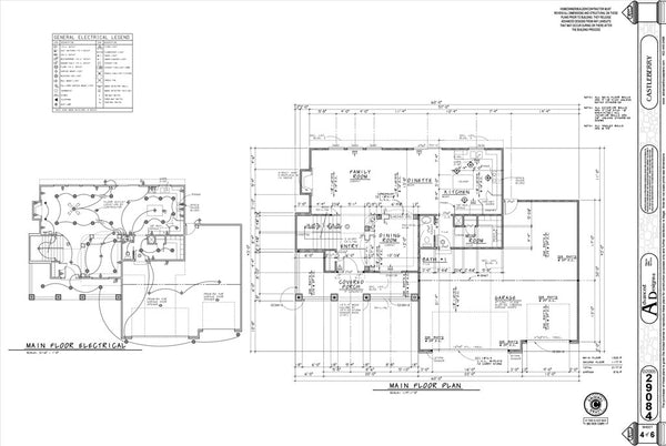 Example floor plan page for a set of house plans