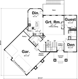 two story house plan main level