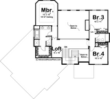 two story house plan second level