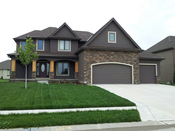 Castleberry traditional 2 story by advanced house plans - Two story gable roof houses ...