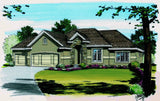 Traditional Ranch House Plan Front