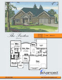 1 story traditional house plan front book