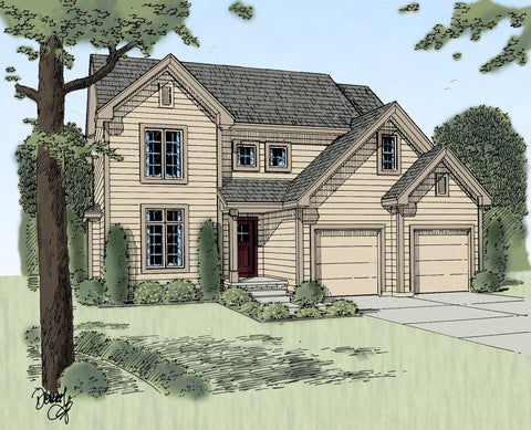 2 story house plan front