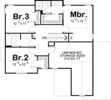 2 story house plan second