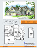 1 story house plan rear