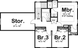 traditional 2 story house plan second level