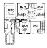2 story house plan second floor plan