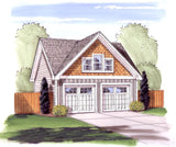 2 Car Garage Plan Front