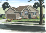 1 story house plan front