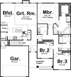 traditional 1 story house plan main