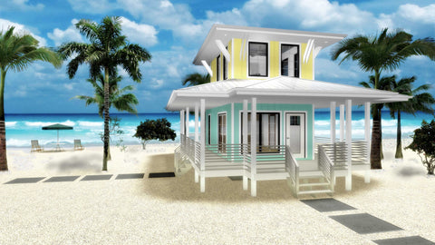 tiny house plan front