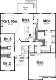 traditional ranch house plan main