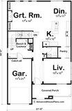 Traditional 2 story floor plan main level