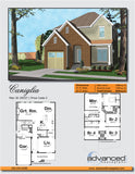 Traditional 2 story house plan book page