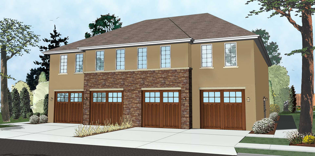 Multi Family House Plans country creek duplex home family house planshouse Krueger Quadplex By Advanced House Plans