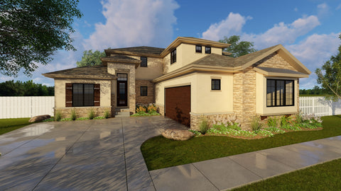 1.5 story house plan front