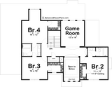 1.5 story house plan second floor plan