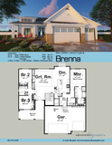 one story modern cottage house plan book page