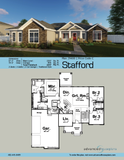 traditional one story house plan book page