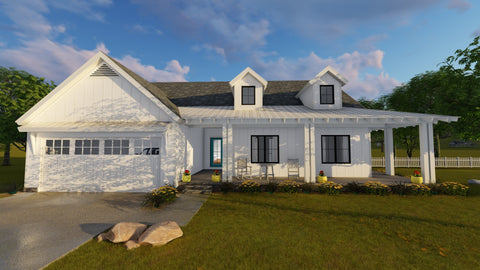 Modern farmhouse house plans for Single story farmhouse
