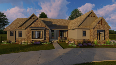 Craftsman house plan front