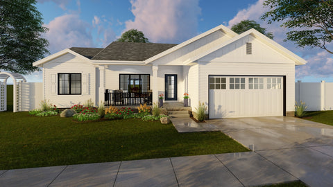 1 Story Craftsman Style House plan front