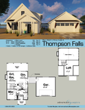 one and a half story modern farmhouse cabin plan book page
