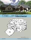 craftsman style one story house plan book page