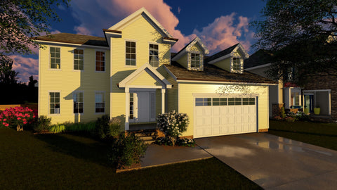 2 story colonial house plan
