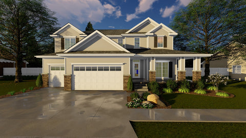 Traditional 2 story house plan