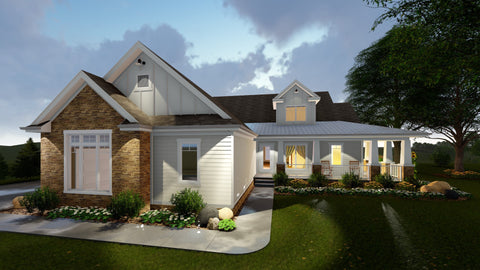 MODERN FARMHOUSE FRONT ELEVATION
