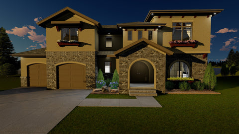 1.5 story house plan tuscan