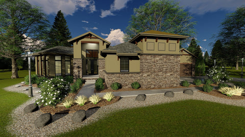 front elevation 3d rendering