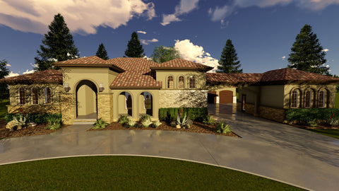 Luxury 1 story house plan