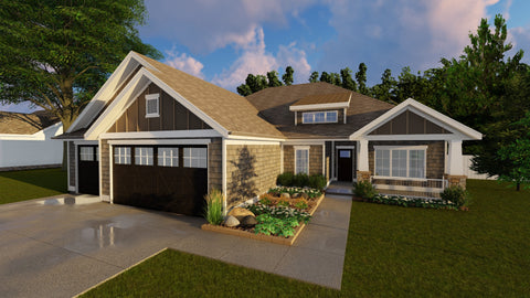 1 story ADA ranch house plan