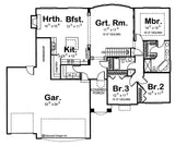 one story house plan main floor