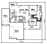 1.5 story traditional house plan main