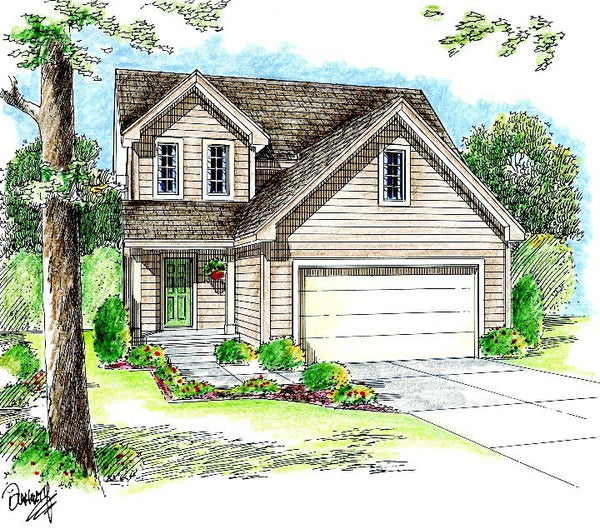 Macon Traditional 2 Story By Advanced House Plans