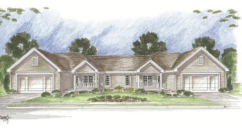 multifamily house plan front