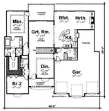Mediterranean 1 story house plan main