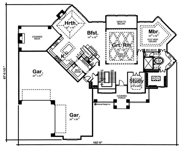 Ashland Manor 1 5 Story Craftsman Style House Plan