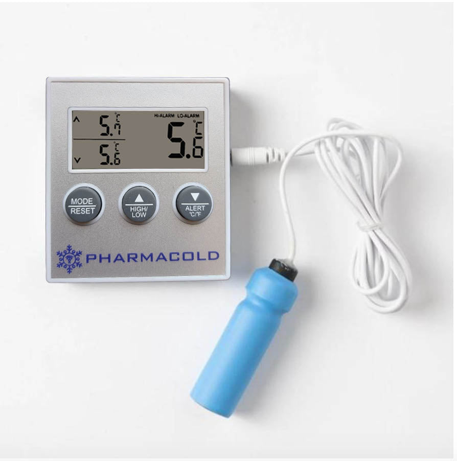 PharmaCold Traceable Glycol Min Max Thermometer with Alarm S-85