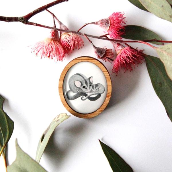 Cute Australia Sugar Glider Brooch