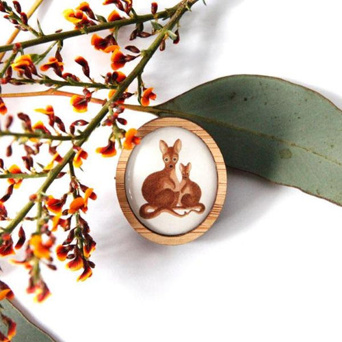 Cute Australia Wallaby Brooch